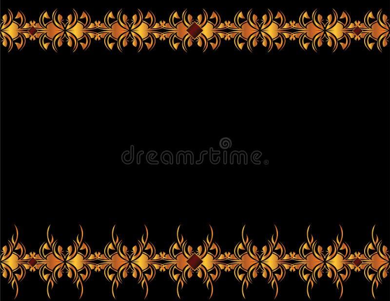 4 elegancki tła złoto ilustracji