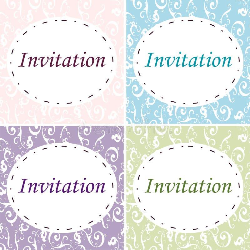 4 eleganckiego zaproszenia royalty ilustracja