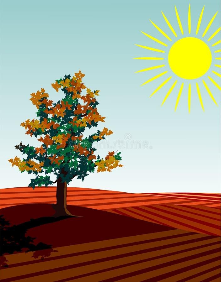 4 estações: outono ilustração stock