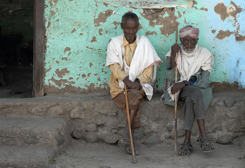 4 ethiopian folk royaltyfria bilder