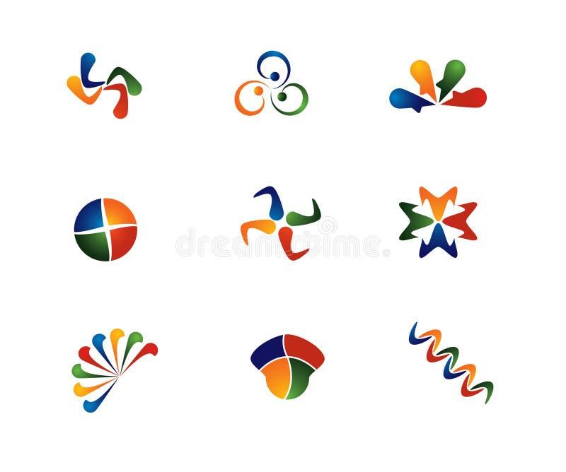 4 extractos del color ilustración del vector