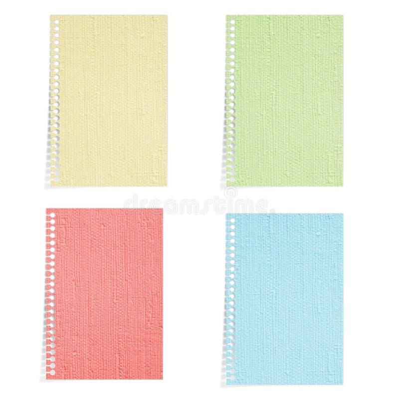4 Farben-Maulbeerepapier getrennt lizenzfreie stockfotos