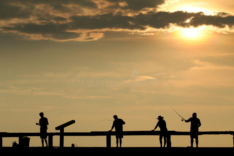 Download 4 fisherman stock photo. Image of sweden, lake, silhouette - 25609108