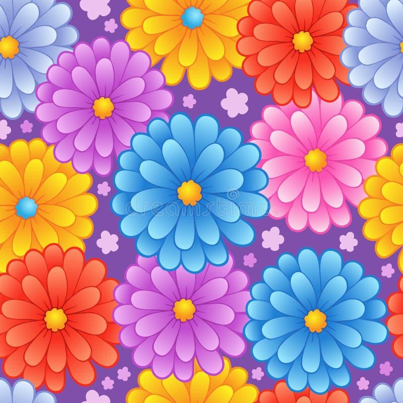 4 flowery άνευ ραφής ανασκόπησης απεικόνιση αποθεμάτων