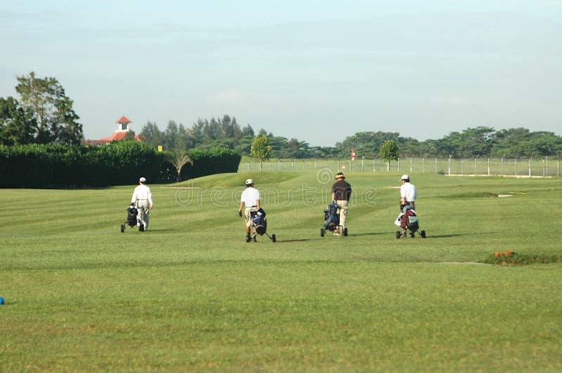 4 giocatori di golf fotografia stock