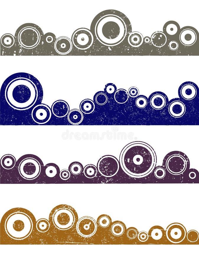 4 Grunge Kreiselemente 4 vektor abbildung