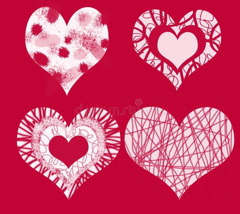 Download The 4 hearts of love stock illustration. Illustration of design - 406500