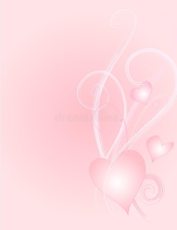 4 hjärtor paper swirlsvektorn royaltyfri illustrationer