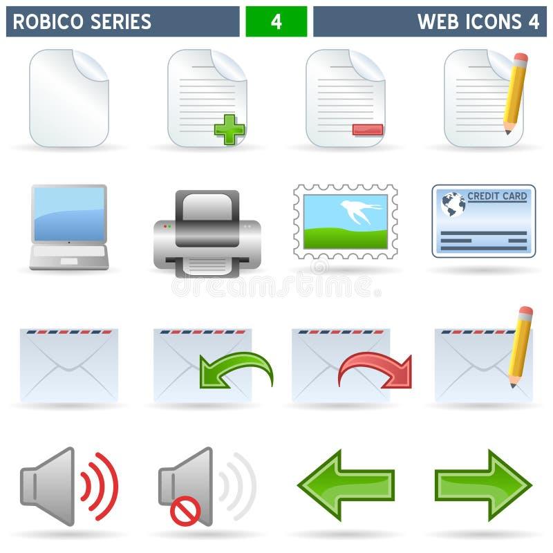 4 ikon robico serii sieć royalty ilustracja