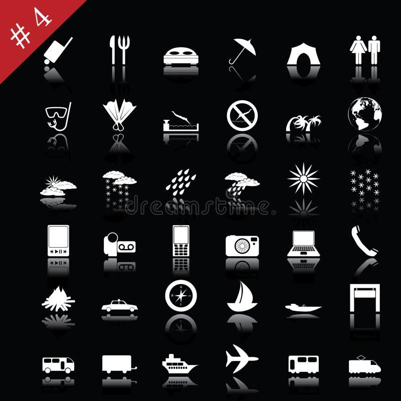 4 ikon set royalty ilustracja