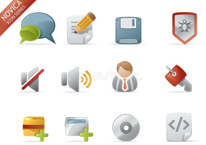 4 ikony novica serii sieci ilustracji