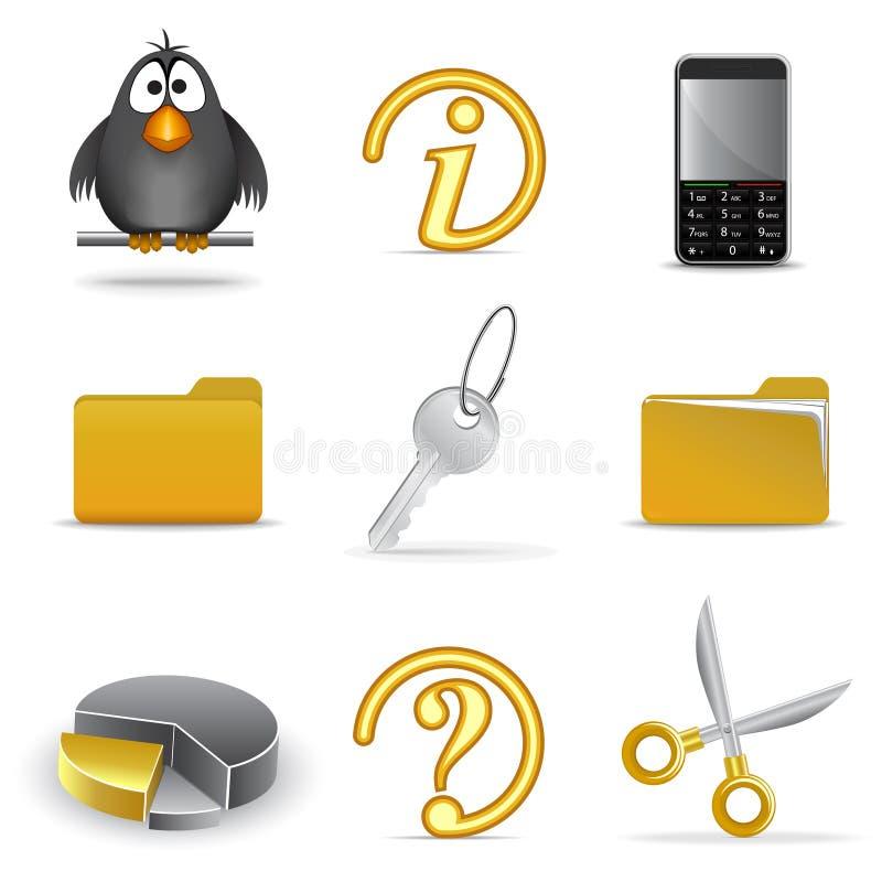 4 ikony ustawiają sieć ilustracji