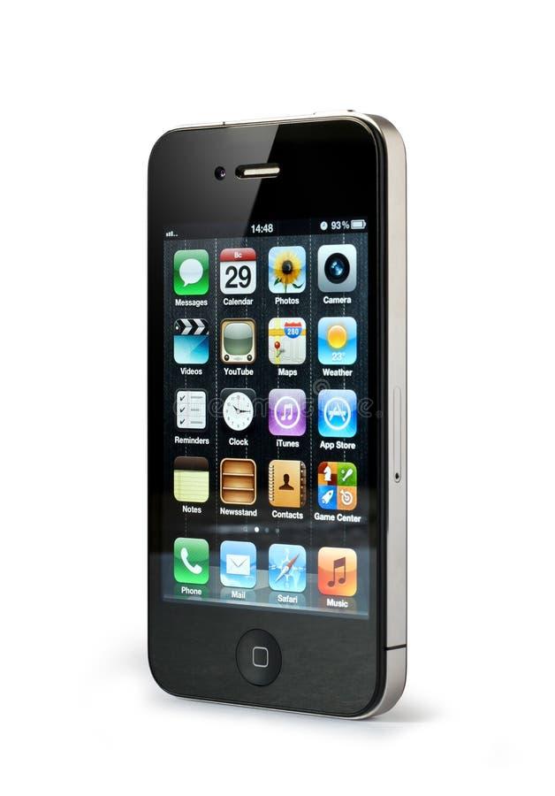 4 jabłek iphone fotografia stock