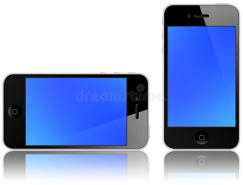 4 jabłek iphone nowy ilustracja wektor