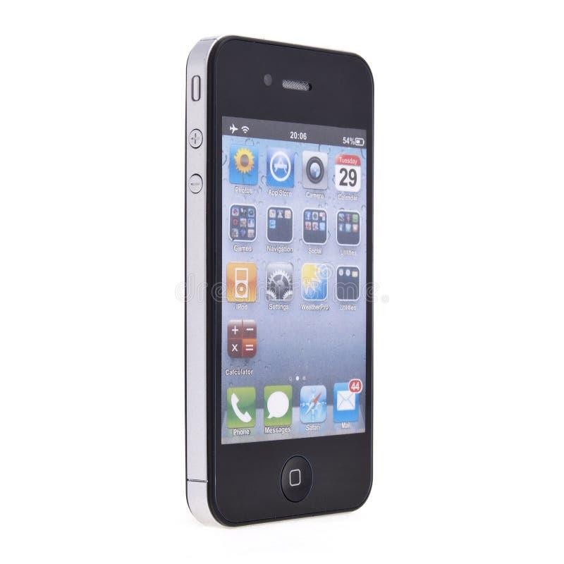 4 jabłek iphone nowy zdjęcie stock