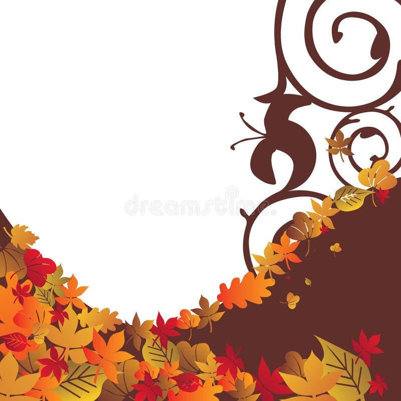 4 jesienią tło ilustracji