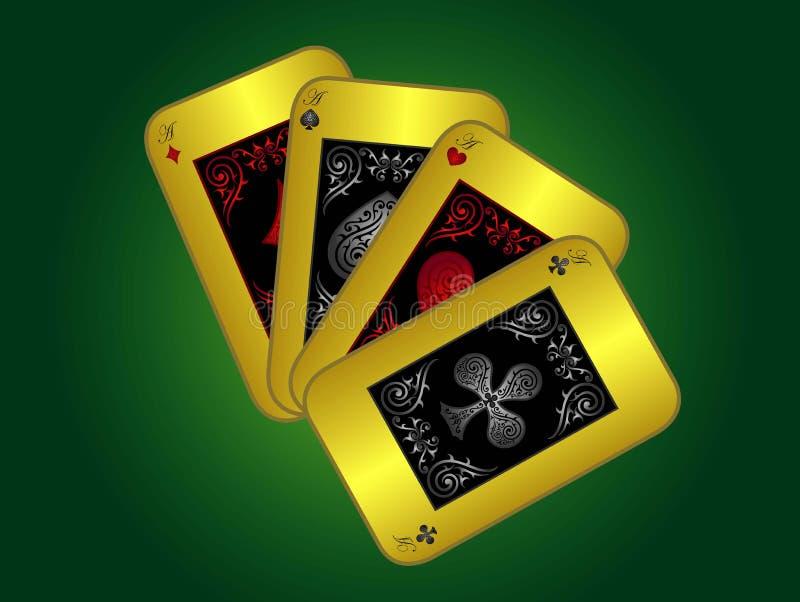 4-kaarten stock afbeelding