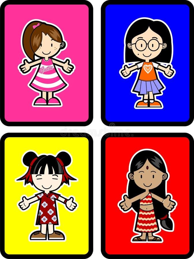 4 Kids stock illustration