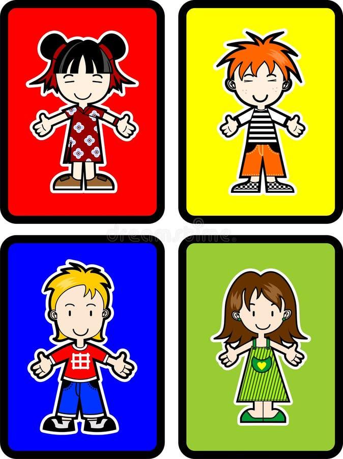 4 Kids royalty free illustration