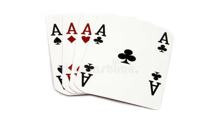 Download 4 of a Kind - Aces stock photo. Image of isolated, flush - 166128