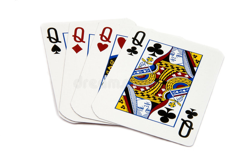 4 of a Kind - Queens royalty free stock photography