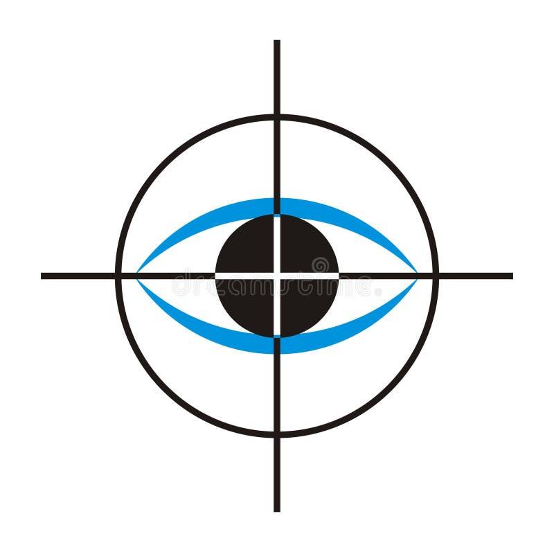 4 kliniki w oko logo royalty ilustracja