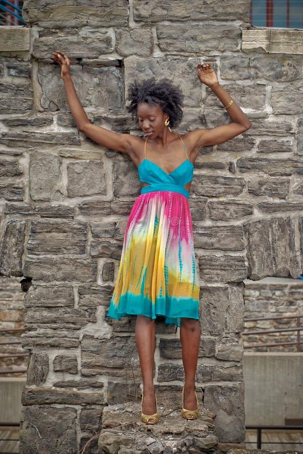 4 kolorowa smokingowa kobieta fotografia stock