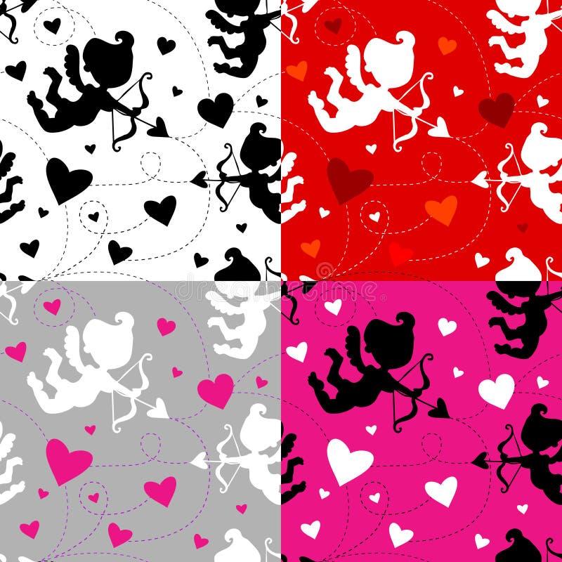 4 koloru kombinacj amorka wzór bezszwowy ilustracja wektor