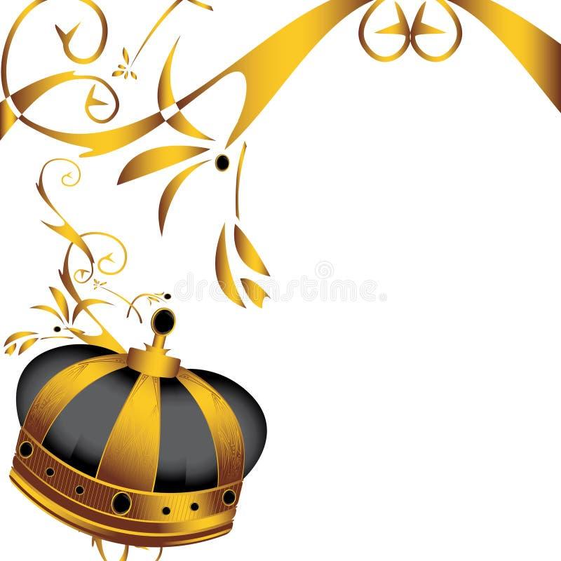 4 koron złota wizerunek ilustracja wektor