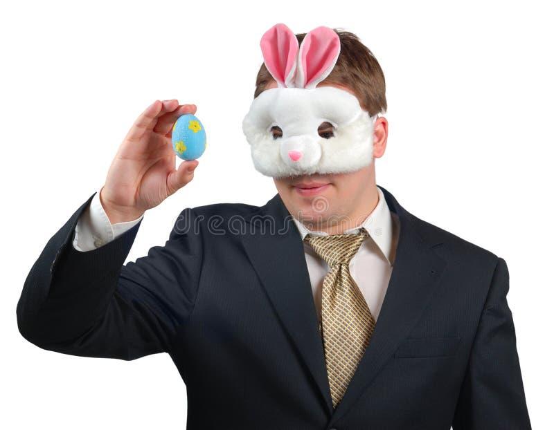 4 królików Easter strój zdjęcia stock