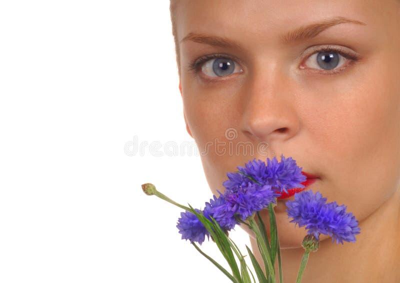 4 kwiat dziewczyną obraz stock
