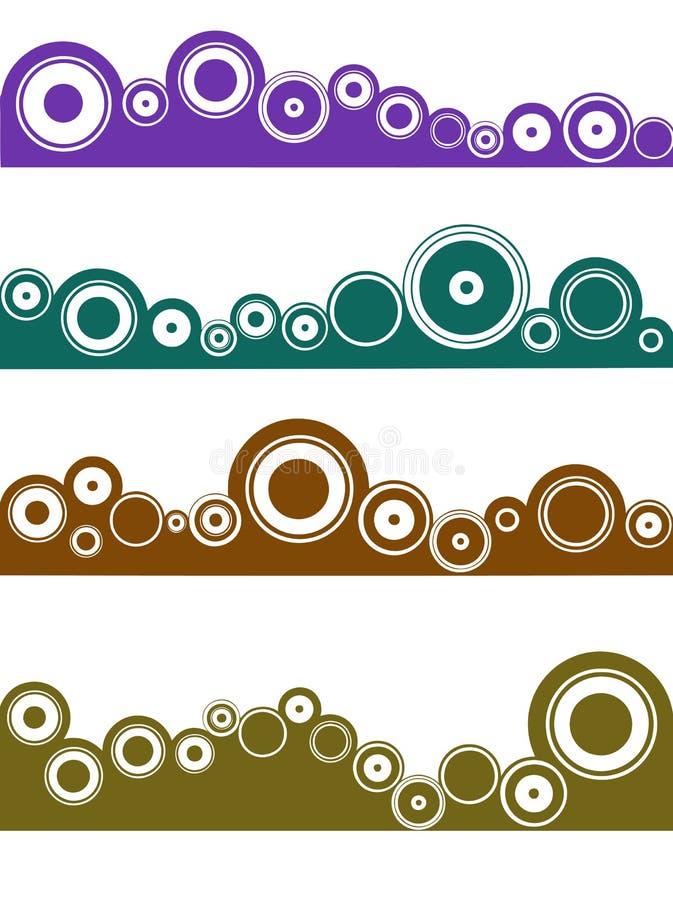 4 Landschaftselemente 4 vektor abbildung