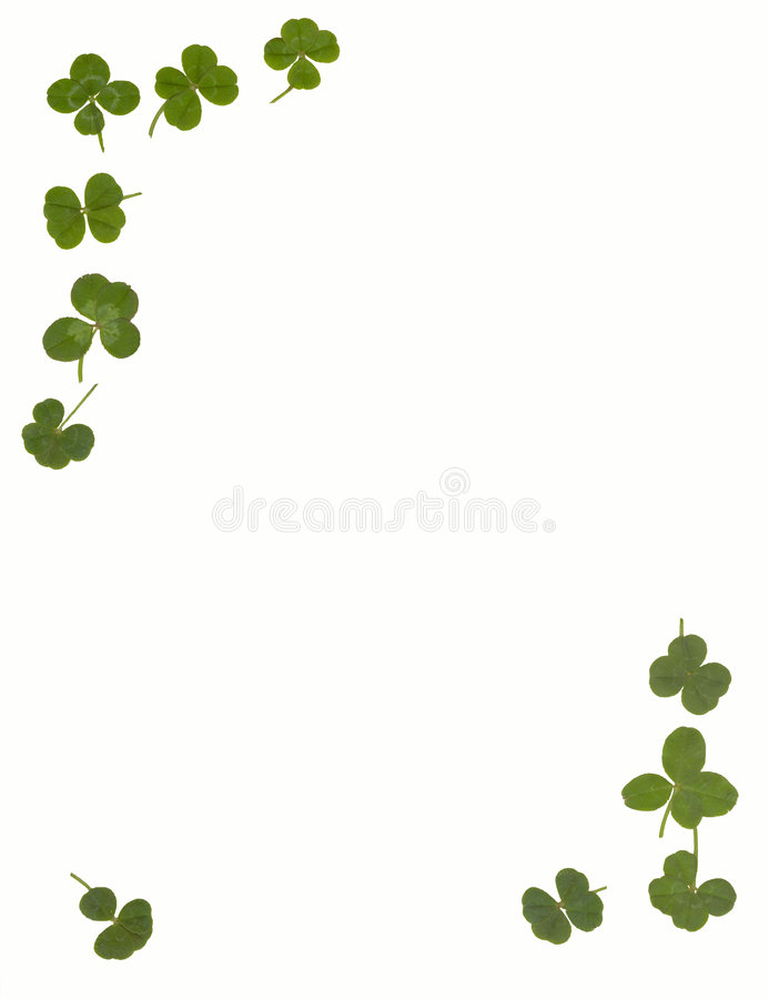 4 Leaf Clover Stationary Royalty Free Stock Images