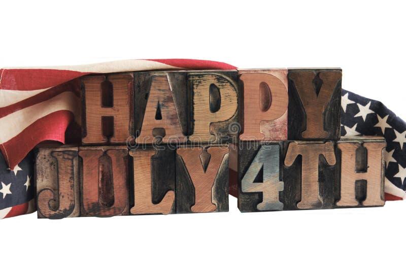 4 luglio felice fotografia stock