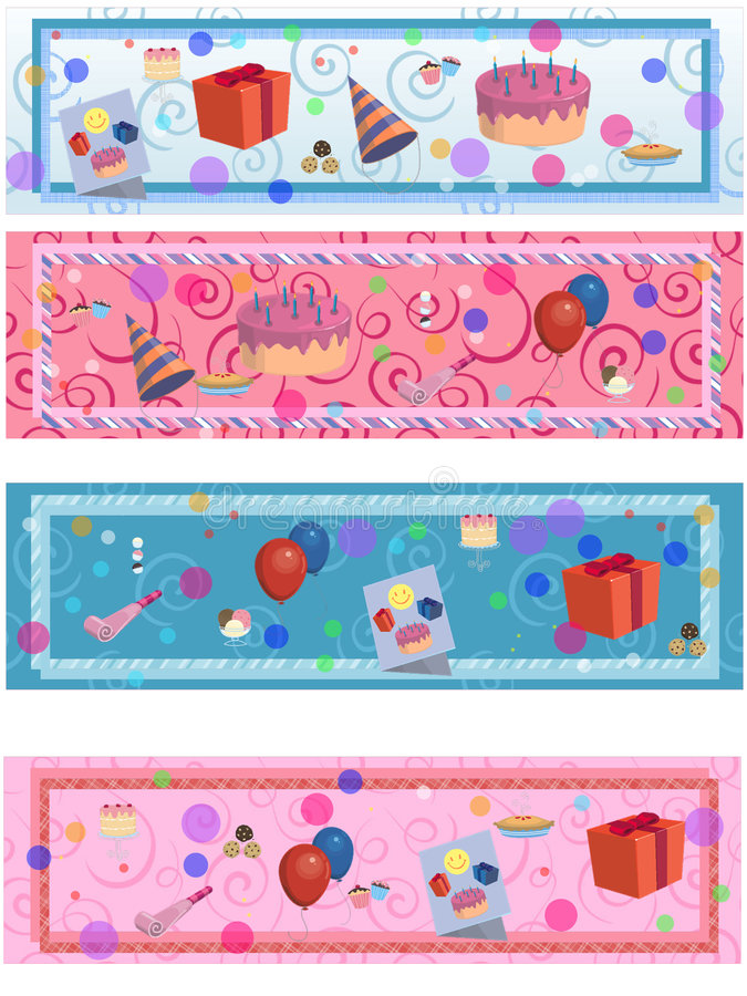 Download 4 Matching Birthday/party Labels Royalty Free Stock Image - Image: 6692166