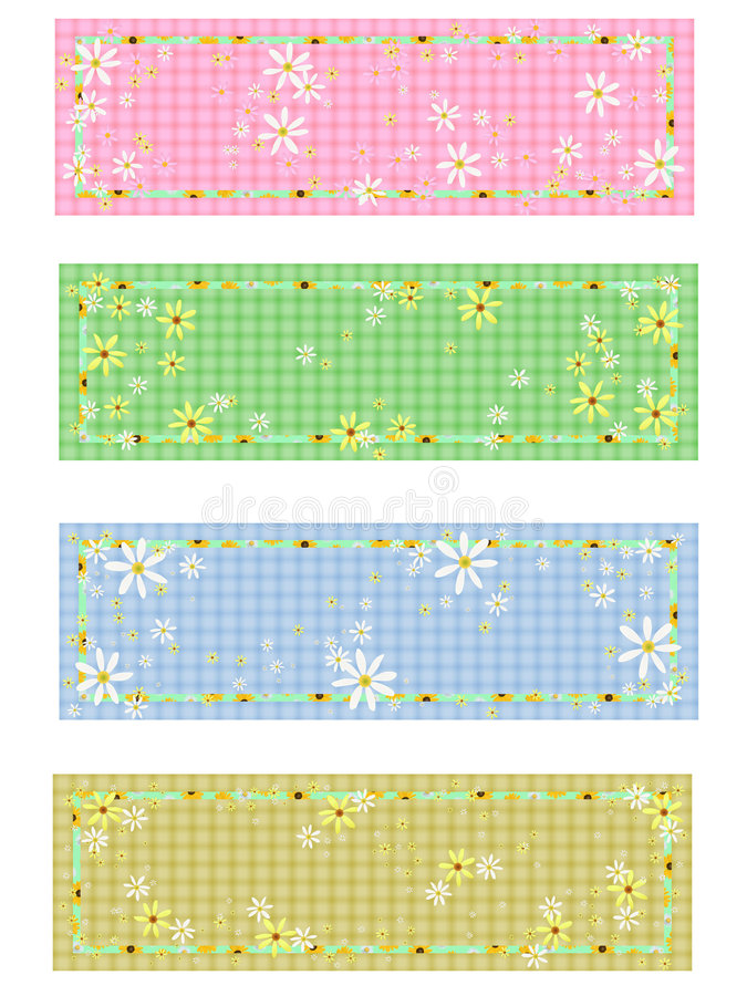 Download 4 Matching Daisy Labels Royalty Free Stock Images - Image: 6692159