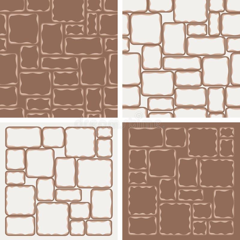 4 Muster mit Steinen lizenzfreie stockfotos