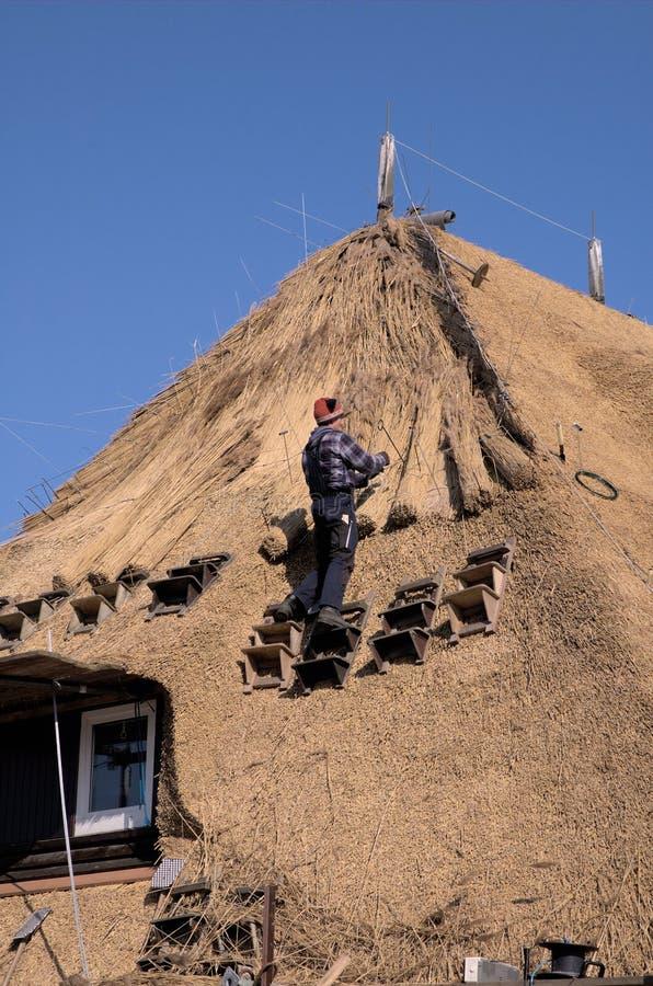 4 nakładania strzechą dach zdjęcia royalty free