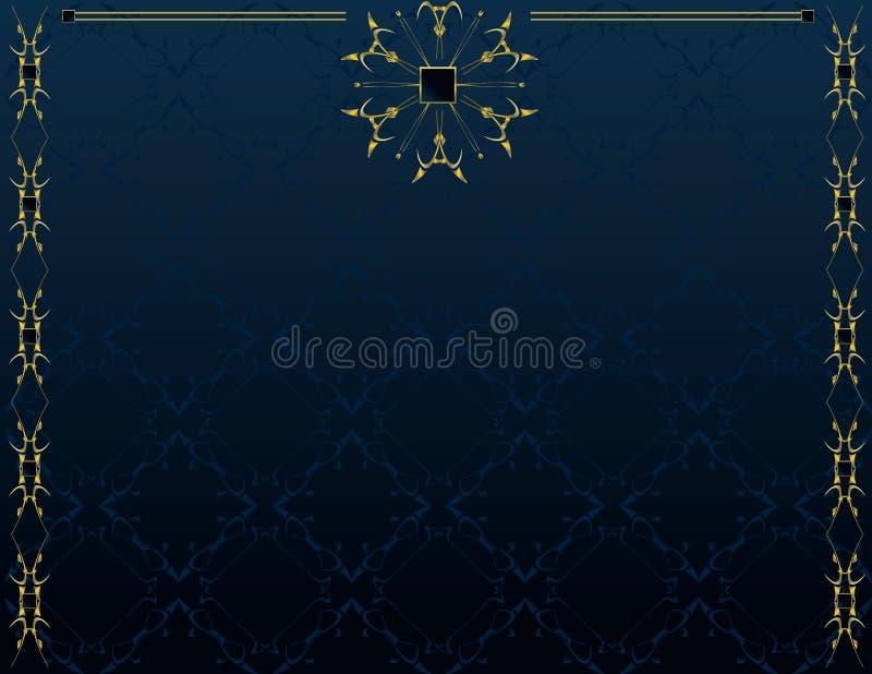 4 niebieski tła elegancki złoto ilustracja wektor