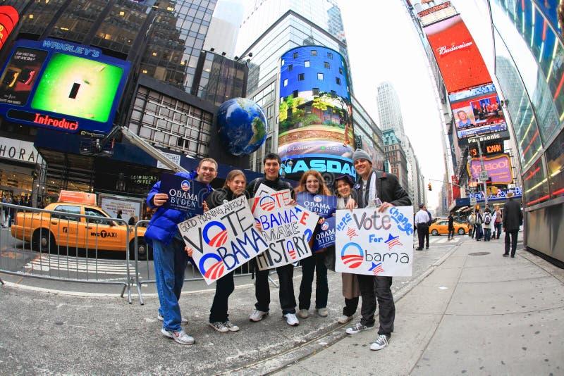 4 nov., 2008 - het Vierkant van The Times in NYC stock foto