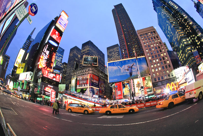 4 nov., 2008 - het Vierkant van The Times in NYC stock afbeelding
