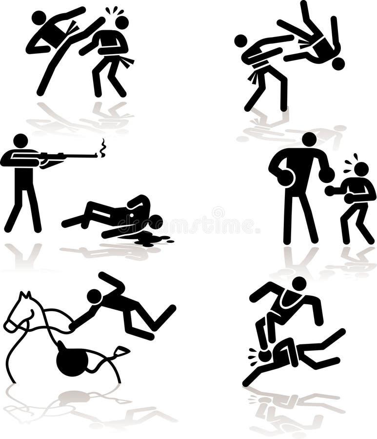 4 olimpijski gier humoru ilustracji