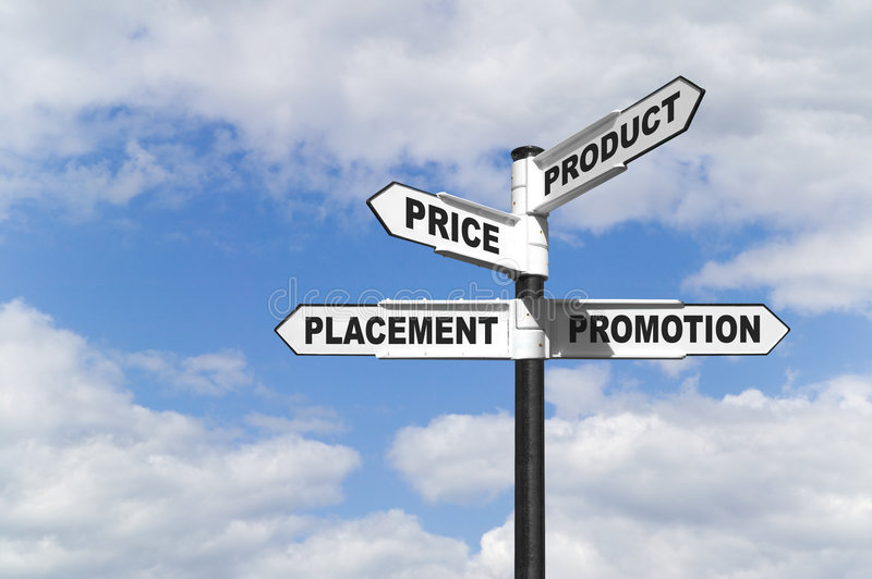 The 4 P's signpost royalty free stock photo