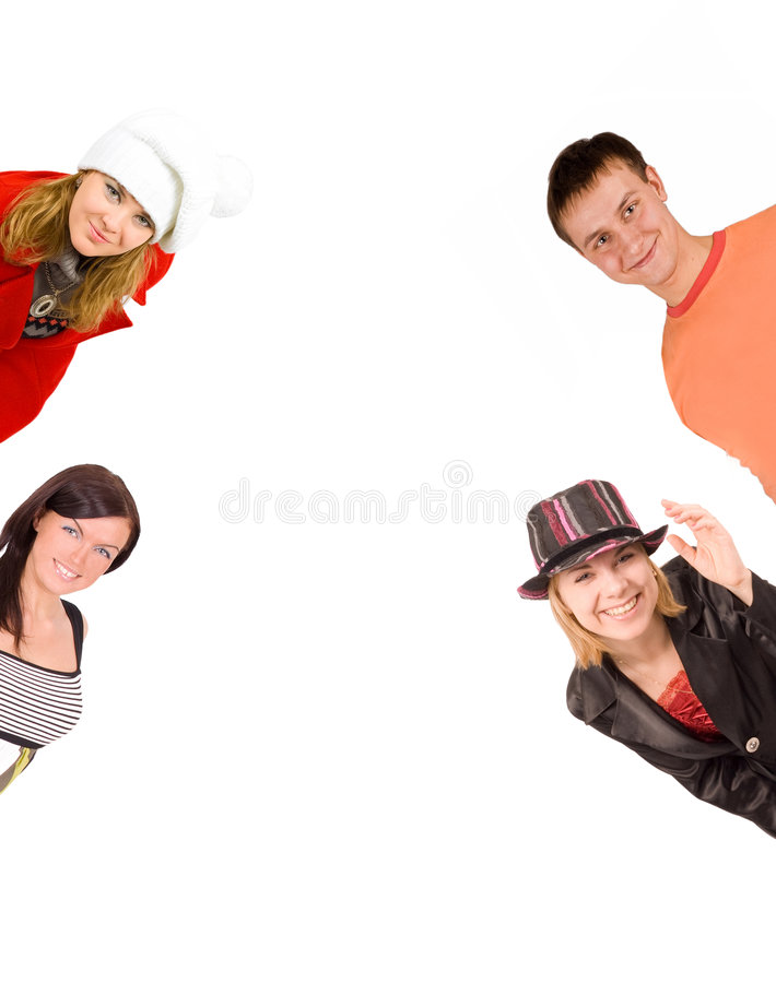 4 People Looking Royalty Free Stock Photography