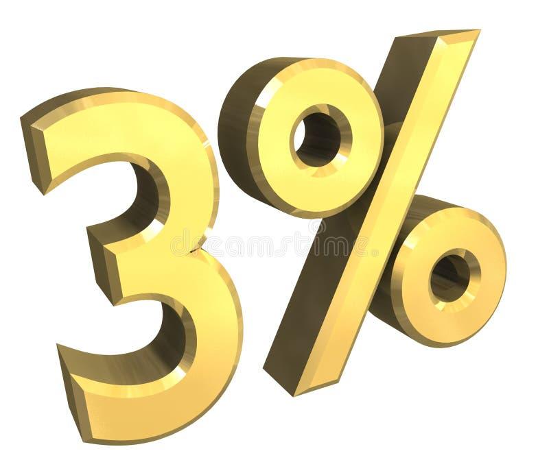 4 per cento in oro (3D) royalty illustrazione gratis