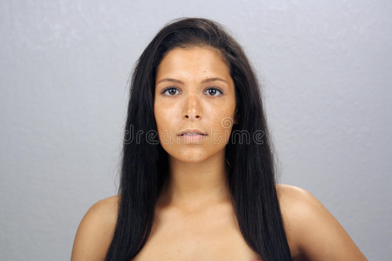 4 piękny headshot Latina nastoletni fotografia stock