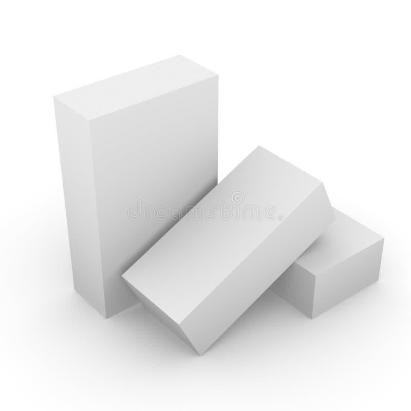 4 pudła ilustracji