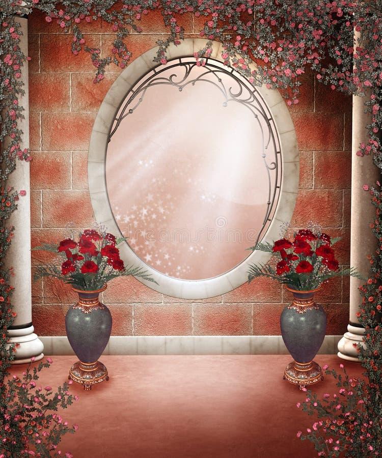 4 róż sceneria ilustracji