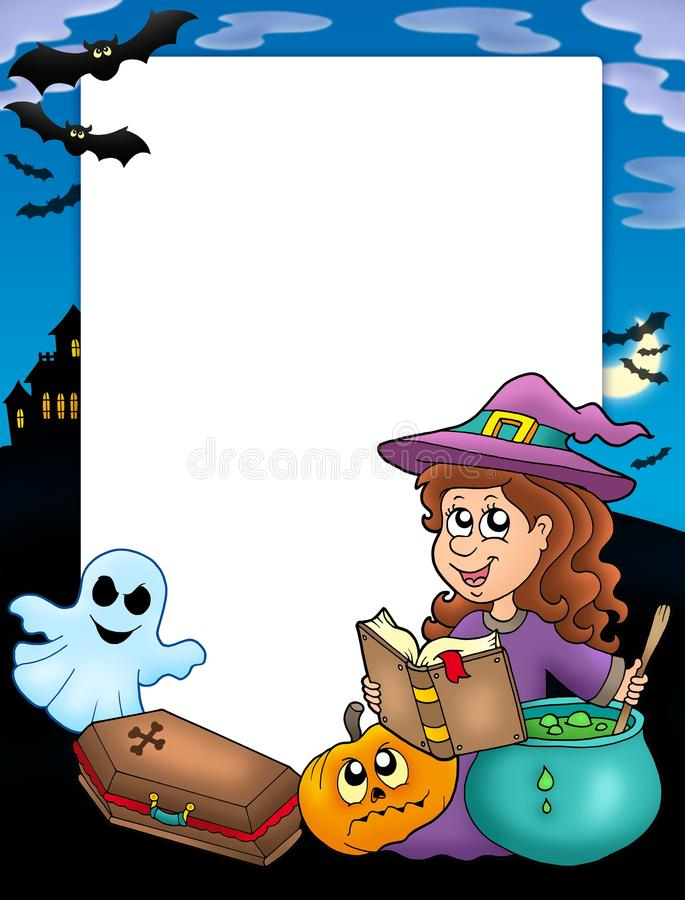 4 ramowy Halloween royalty ilustracja