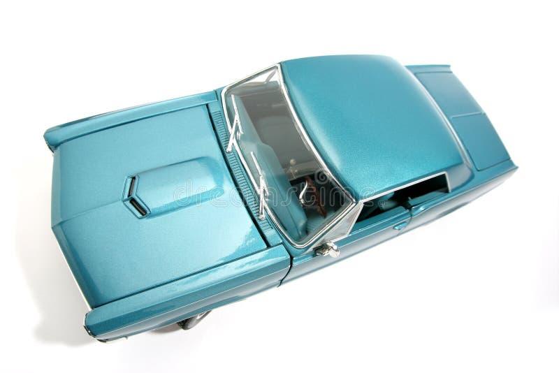 4 samochodów 1965 Pontiaca gto fisheye metalu skali zabawek zdjęcia royalty free